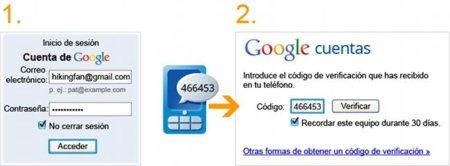 Google, la autenticación en dos pasos para el correo electrónico ya disponible en español