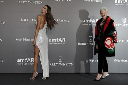 Nieves Álvarez, una de las protagonistas en la Gala amfAR celebrada anoche en Milán