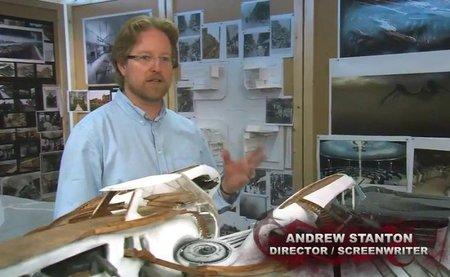 Andrew Stanton durante la producción de John Carter