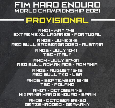 Calendario Fim Wess Hard Enduro 2021