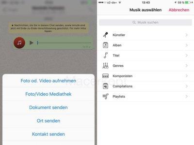 WhatsApp para iPhone por fin permitirá compartir canciones en su próxima versión