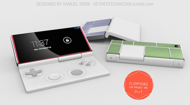 Flippypad, una idea muy atractiva para convertir Project Ara en consola portátil