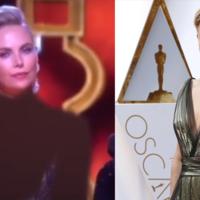 La televisión iraní censura a Charlize Theron en los Oscars, la imagen de la semana