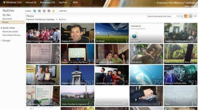 Fotos en SkyDrive