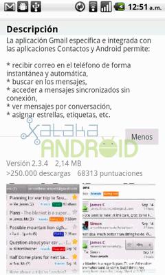 Actualización Gmail 2.3.4