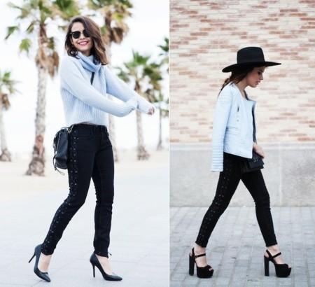 azul cielo y pantalones zara