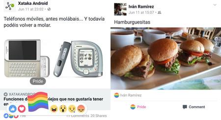 Cómo enviar la reacción de la bandera del orgullo LGTB desde Facebook para Android