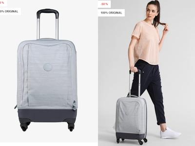 Super oferta en la maleta Kipling Trolley rebajada un 50% y con envío gratis