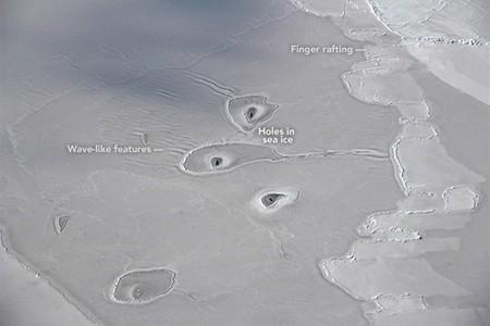 La NASA detecta unos agujeros nunca vistos en el Ártico