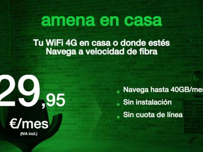 Amena rebaja de 100 a 40 gigas su alternativa al ADSL y elimina el límite para descargas