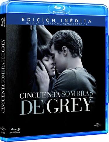 La portada del Blu-ray de Cincuenta Sombras de Grey