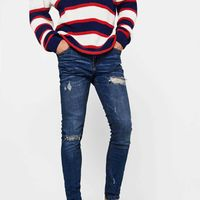 Jeans Skinny rotos, de Bershka