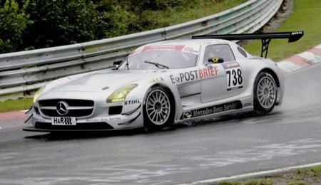 Mercedes SLS AMG GT3, accidentado debut