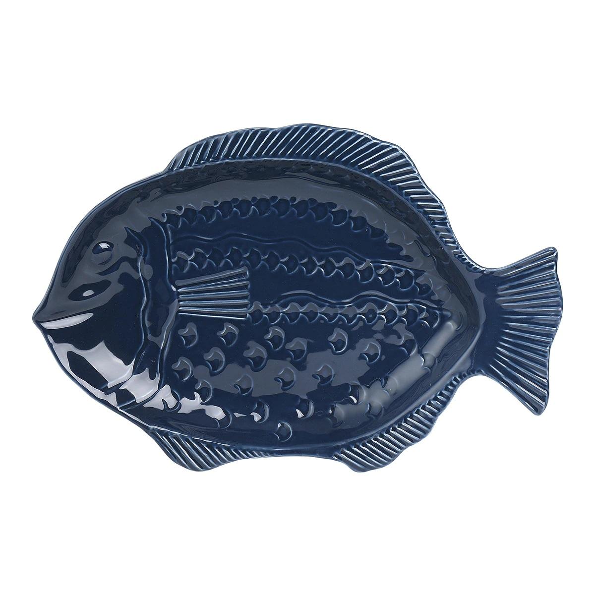 Plato decorativo con forma de pez