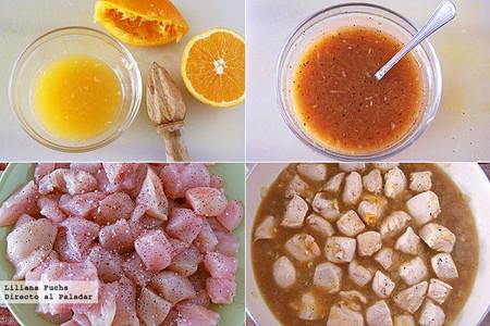 Receta fácil de pollo a la naranja. Pasos