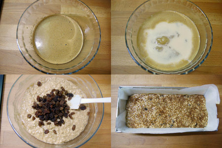 Bizcocho integral con puré de manzana y leche sin lactosa. Pasos