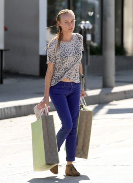 Diane Kruger azul electrico