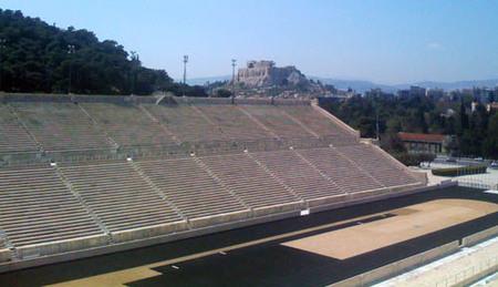 El estadio Kalimarmaro y el Zappion de Atenas (Grecia)