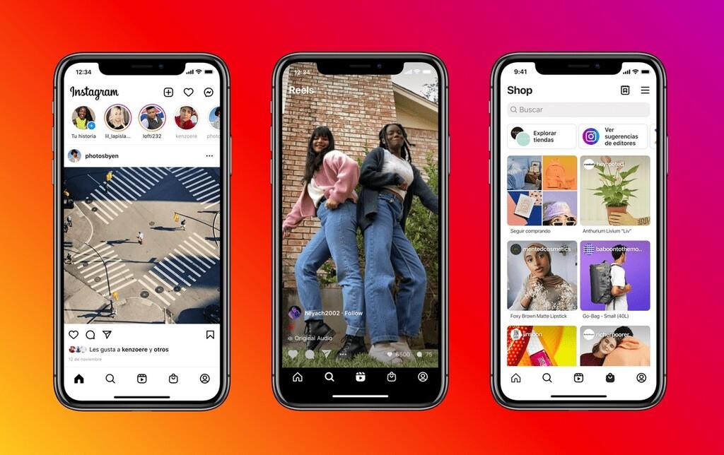 Instagram rediseña su app, los Reels y la Tienda son ahora absolutos protagonistas