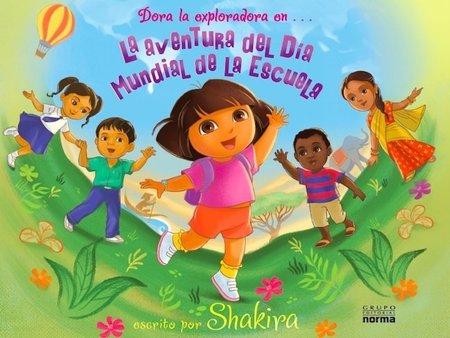Shakira y Dora la Exploradora en un cuento infantil