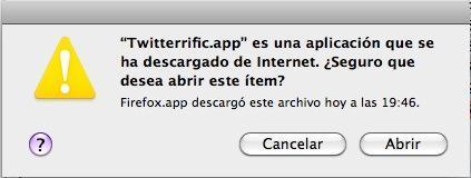 Desactiva el mensaje de seguridad en OS X cuando abrimos un archivo descargado de internet