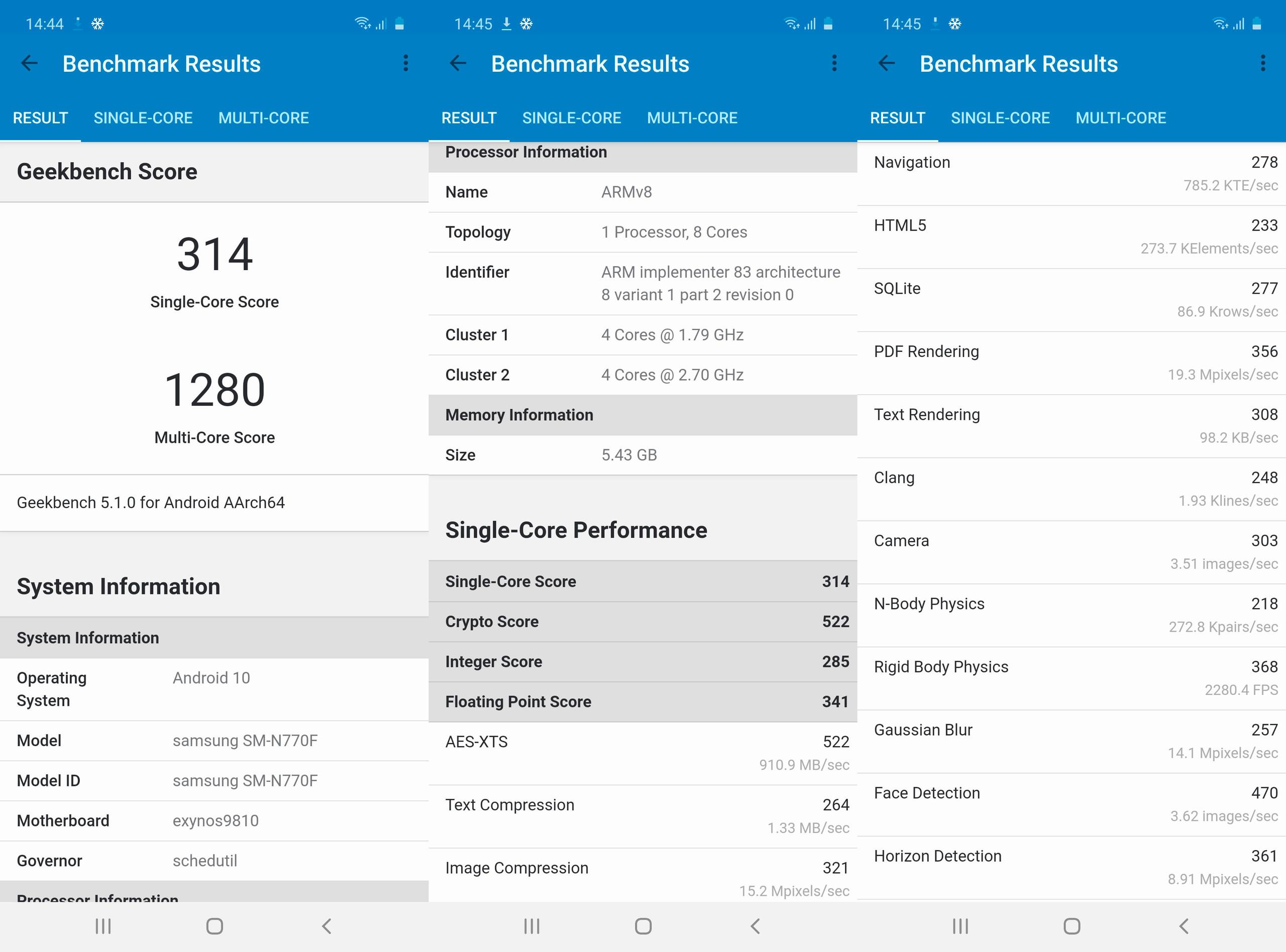 Foto de Samsung Galaxy Note 10 Lite, benchmarks (3/6)