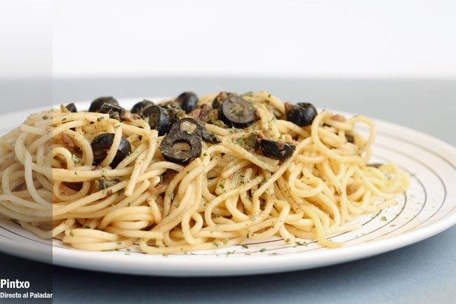 Espaguetis sabrosos
