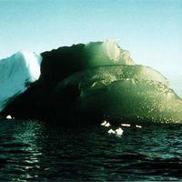 ¿Por qué hay icebergs que son de color verde en la Antártida?