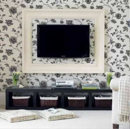 Una buena idea: enmarca tu tele de pantalla plana