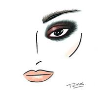 El look que creó Estée Lauder para el desfile de Anthony Vacarello en la Semana de la Moda de Paris