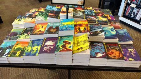 Sf Masterworks Table Display At London Bookshop May 2017