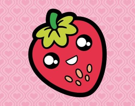 Fresa Feliz Comida Frutas 10161385