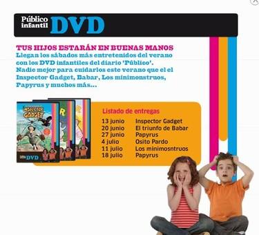 Colección de DVDs infantiles con Público