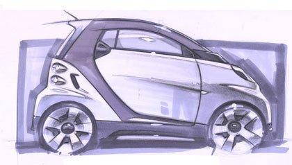 Bocetos del nuevo Smart ForTwo