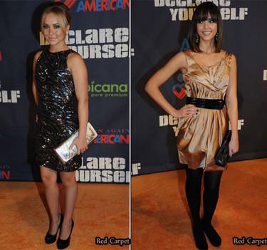 Jessica Alba y Hayden Panettiere en la gala Declare Yourself