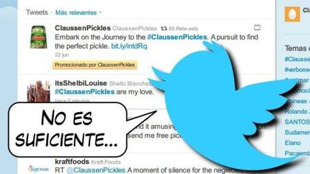 Twitter está pensándose meter de una vez publicidad entre las actualizaciones