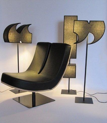 Escribir con sillas y puntuar con lámparas