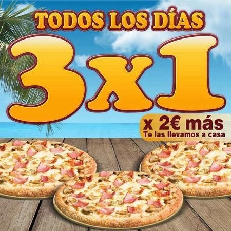 Aprovecha un 3x1 de Pizza Móvil hasta finales de mes