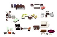 Mobiliario moderno para casas de muñecas