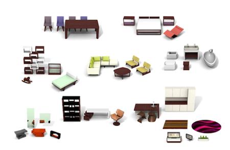 Mobiliario moderno para casas de mu ecas for Medidas de mobiliario de una casa