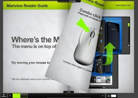 Martview, un atractivo lector de PDF que permite compartir publicaciones