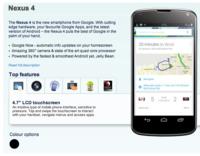 LG Nexus 4 aparece en la web de Carphone Warehouse