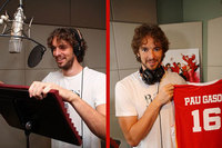 """Pau y Marc Gasol en el doblaje de """"High School Musical 3"""""""