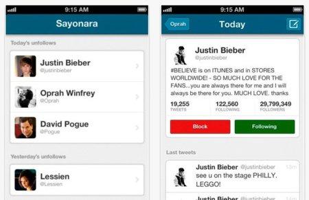 Sayonara, una aplicación que te notifica en tu móvil cada vez que alguien deja de seguirte en Twitter