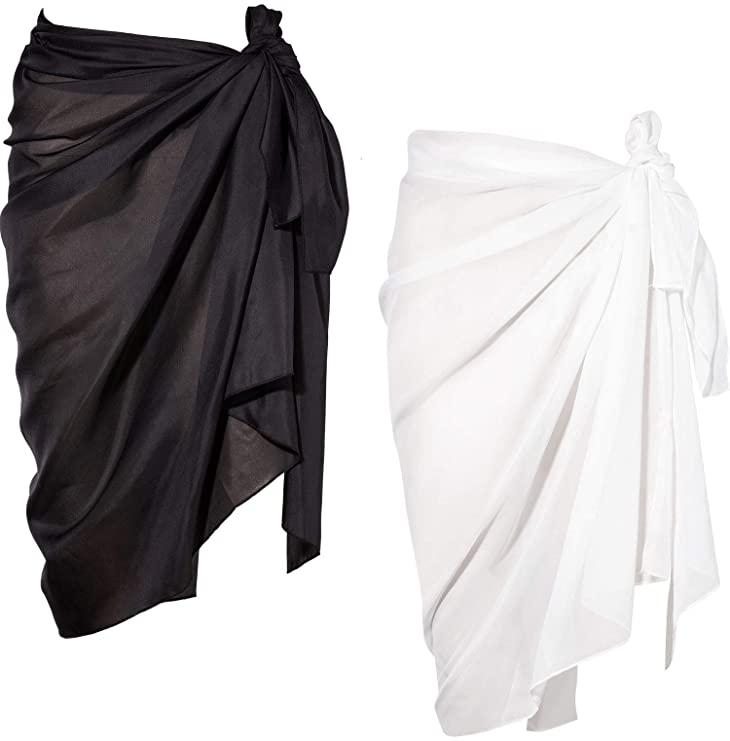 Pack de dos pareos en negro y blanco