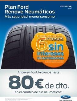 """Ford lanza su """"Renove"""" de neumáticos, hasta 160 euros de descuento"""