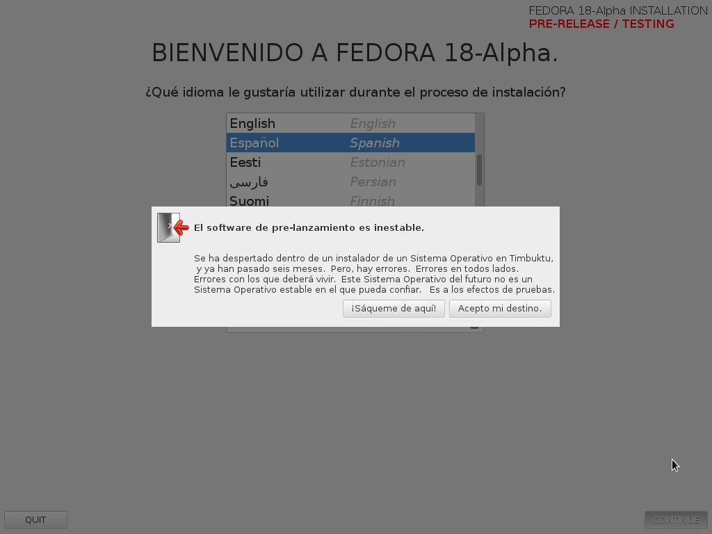 Foto de Instalación de Fedora 18 (12/13)
