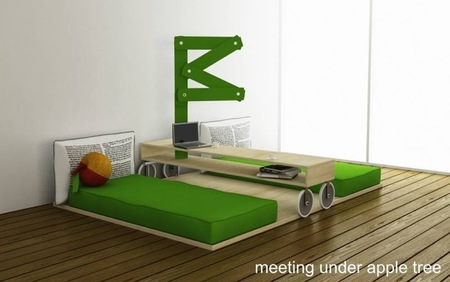 Un dormitorio inspirado en Isaac Newton