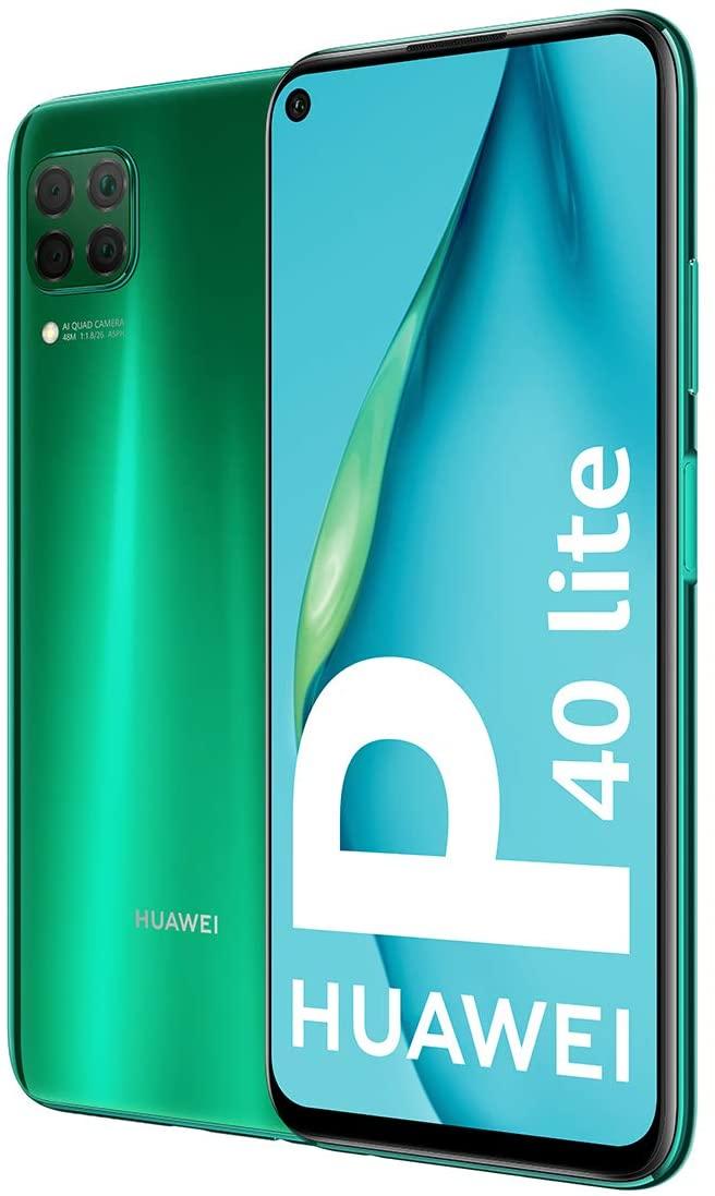 "HUAWEI P40 Lite - Smartphone con Pantalla de 6.4"" FullView (Kirin 810, 6GB de RAM,128GB de ROM, 48MP, Cuádruple cámara, Carga Rápida de 40W, Batería de 4200mAh) Verde + Freebuds 3i Blanco"