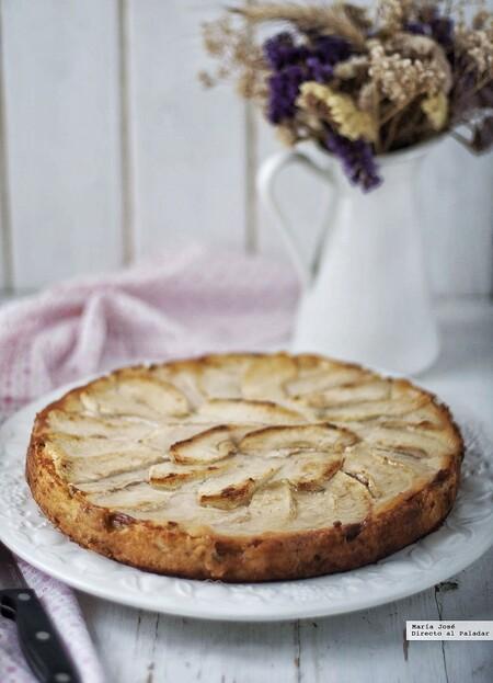 tarta de manzana y crema de yogur